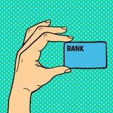Λαϊκό χέρι τέχνης με τη διανυσματική απεικόνιση καρτών χρημάτων Στοκ φωτογραφία με δικαίωμα ελεύθερης χρήσης