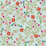 Λαϊκό Floral άνευ ραφής διανυσματικό πρότυπο Στοκ φωτογραφία με δικαίωμα ελεύθερης χρήσης