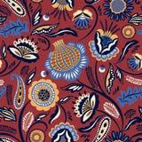 Λαϊκό floral άνευ ραφής σχέδιο αφηρημένο σχέδιο σύγχρονο Στοκ Φωτογραφίες