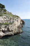 Λα Βικτώρια Κόστα ντελ Σολ Μάλαγα Ισπανία Rincon de απότομων βράχων Στοκ εικόνα με δικαίωμα ελεύθερης χρήσης