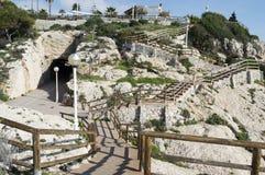 Λα Βικτώρια Μάλαγα Ισπανία απότομων βράχων rincon de Στοκ Φωτογραφία