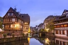 Λα λεπτοκαμωμένη Γαλλία στο χρόνο σούρουπου, Στρασβούργο, Αλσατία Στοκ φωτογραφίες με δικαίωμα ελεύθερης χρήσης
