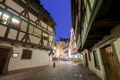 Λα λεπτοκαμωμένη Γαλλία στο χρόνο σούρουπου, Στρασβούργο, Αλσατία Στοκ Φωτογραφίες