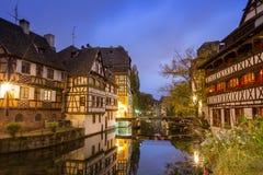 Λα λεπτοκαμωμένη Γαλλία στο χρόνο σούρουπου, Στρασβούργο, Αλσατία Στοκ φωτογραφία με δικαίωμα ελεύθερης χρήσης