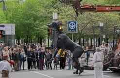 Λα λεπτοκαμωμένη 375η επέτειος Géante - του Μόντρεαλ ` s Στοκ Φωτογραφία