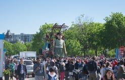 Λα λεπτοκαμωμένη 375η επέτειος Géante - του Μόντρεαλ ` s Στοκ φωτογραφία με δικαίωμα ελεύθερης χρήσης