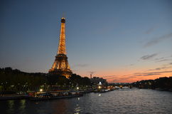 Λα Σηκουάνας, Παρίσι στοκ φωτογραφία