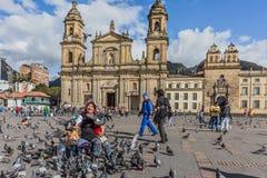 Λα Candelaria Μπογκοτά Κολομβία plaza bolívar Στοκ εικόνα με δικαίωμα ελεύθερης χρήσης