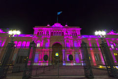 Λα Casa Rosada τη νύχτα στο Μπουένος Άιρες Αργεντινοί Στοκ φωτογραφία με δικαίωμα ελεύθερης χρήσης