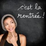 Λα Cest Rentree Scolaire - γαλλικά πίσω στο σχολείο Στοκ Εικόνα