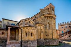 Λα Collegiata Castell'Arquato Στοκ Εικόνες