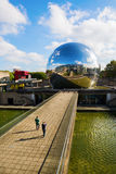 Λα Geode Parc de Λα Villette, Παρίσι, Γαλλία Στοκ Εικόνες