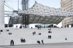 Λα Grande Arche, υπεράσπιση Λα, Παρίσι, Γαλλία Στοκ εικόνα με δικαίωμα ελεύθερης χρήσης