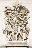 Λα Marseillaise, γλυπτική ομάδα στη βάση Arc de Triomphe de l'Etoile, Παρίσι Στοκ Εικόνες