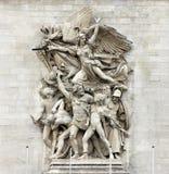Λα Marseillaise Francois αγενές - γλυπτική ομάδα στη βάση Arc de Triomphe de λ ` Etoile, Παρίσι Στοκ Εικόνα