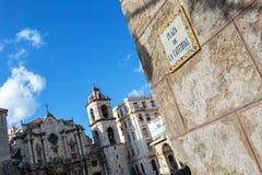 Λα Plaza de catedral στο Λα Habana Στοκ Φωτογραφίες