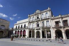 Λα Plaza Vieja, ένα τουριστικό ορόσημο Αβάνα Στοκ Φωτογραφίες