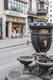 Λα Rambla, πηγή, Font de Canaletes, Βαρκελώνη στοκ εικόνες