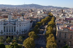 Λα Rambla στη Βαρκελώνη Στοκ Εικόνες