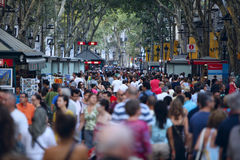Λα rambla της Βαρκελώνης Στοκ εικόνα με δικαίωμα ελεύθερης χρήσης