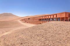 Λα Residenzia και το ευρωπαϊκό πολύ μεγάλο τηλεσκόπιο σε Paranal, Χιλή στοκ εικόνα