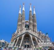 Λα sagrada Ισπανία famila εκκλησιών της Βαρκελώνης Στοκ Φωτογραφία