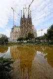 Λα Sagrada Familia, που σχεδιάζεται από το Antoni Gaudi, στη Βαρκελώνη Στοκ Εικόνα