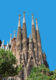 Λα sagrada familia της Βαρκελώνης Στοκ Φωτογραφίες
