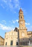 Λα Seo γνωστό επίσης ως καθεδρικός ναός του Σαλβαδόρ σε Σαραγόσα Στοκ Εικόνες