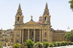 Λα Valletta, εκκλησία της Μάλτας του ST Publius σε Floriana στοκ φωτογραφία με δικαίωμα ελεύθερης χρήσης