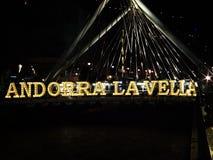 Λα Vella της Ανδόρρας Στοκ Εικόνα