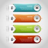 Λείες στιλπνές ετικέτες Infographic ελεύθερη απεικόνιση δικαιώματος