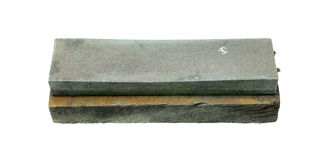 Λειαντική ακόνη στο άσπρο υπόβαθρο Στοκ Εικόνα