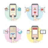 Λειτουργία κινητών τηλεφώνων ελεύθερη απεικόνιση δικαιώματος