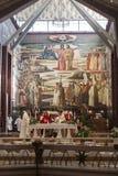 Λειτουργία στην εκκλησία Annunciation στη Ναζαρέτ Στοκ φωτογραφίες με δικαίωμα ελεύθερης χρήσης