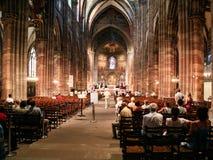 Λειτουργία στην καθέδρα του Στρασβούργου στοκ εικόνες με δικαίωμα ελεύθερης χρήσης