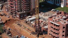 Λειτουργία της διαδικασίας οικοδόμησης γερανών κατασκευής απόθεμα βίντεο