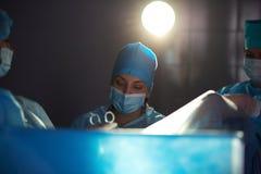 Λειτουργία υπό εξέλιξη στο νοσοκομείο Στοκ φωτογραφία με δικαίωμα ελεύθερης χρήσης