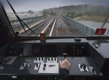 Λειτουργούν τραίνο Στοκ Φωτογραφία