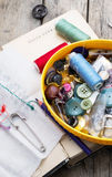 Λειτουργούν seamstress προμηθειών κληρονομιών Στοκ Εικόνα
