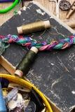 Λειτουργούν seamstress προμηθειών κληρονομιών Στοκ φωτογραφία με δικαίωμα ελεύθερης χρήσης