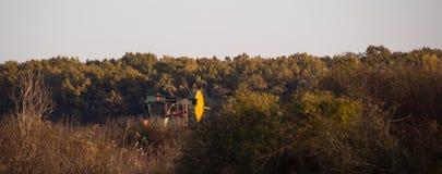 Λειτουργούσα αντλία πετρελαίου στο δάσος Στοκ Εικόνα