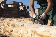 Λειτουργούσα προγραμματισμένη λαβές ξυλεία στοκ φωτογραφία