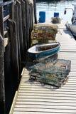 Λειτουργώντας αποβάθρα αλιείας Στοκ Εικόνα