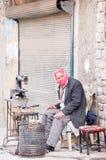 Λειτουργώντας παπούτσια υποδηματοποιών στην πόλη Aleppo Στοκ φωτογραφίες με δικαίωμα ελεύθερης χρήσης