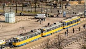 Λειψία, Σαξωνία, Γερμανία - 21 Οκτωβρίου 2017: Άποψη άνωθεν Στοκ εικόνα με δικαίωμα ελεύθερης χρήσης
