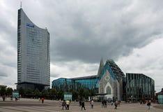 Λειψία - Augustusplatz στοκ φωτογραφία