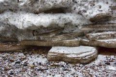 Λειωμένος άνοιξη πάγος στοκ εικόνα