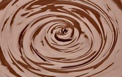 Λειωμένος στρόβιλος σοκολάτας στοκ εικόνες με δικαίωμα ελεύθερης χρήσης