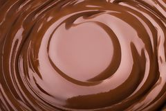 Λειωμένος στρόβιλος σοκολάτας στοκ εικόνα με δικαίωμα ελεύθερης χρήσης